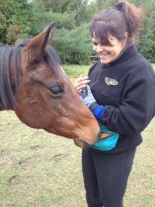 Pauline and her horse